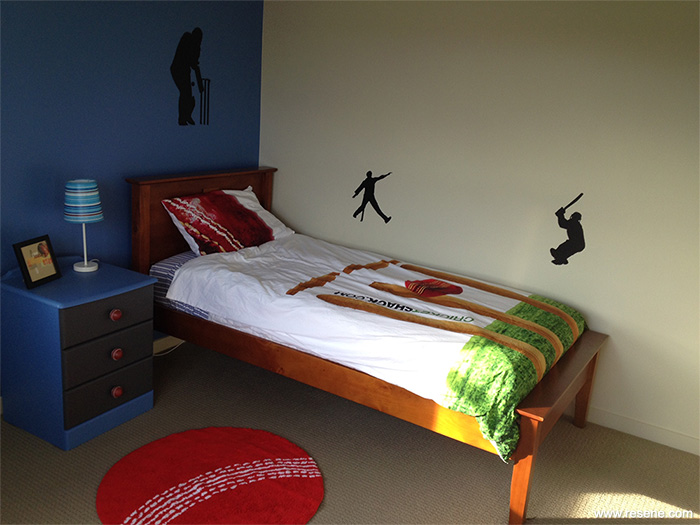 A Cricket Themed Room For A Boy