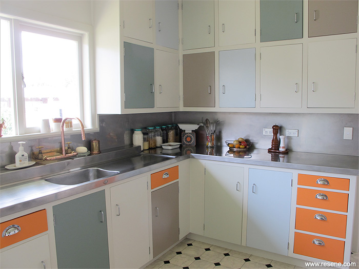 Resene S Karen Walker Palette 4 Colours In A Kitchen