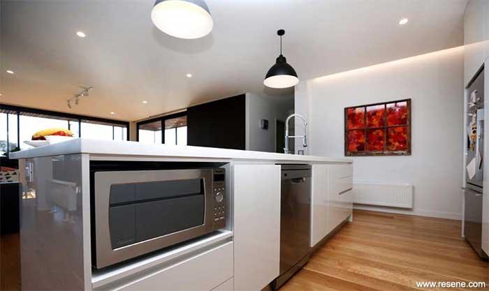 Resene Half Black White Entire Interior Highlights Their Art
