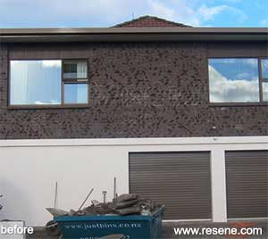 modernising dark clinker brick by painting with resene bokara grey