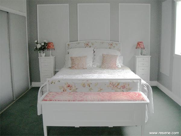 a silver grey bedroom colour scheme