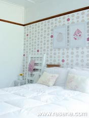 A hand painted feature wall