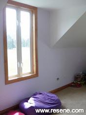 Resene Fog Feature wall girls bedroom