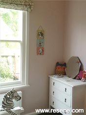 Gorgeous Resene Blanched Pink girl's room