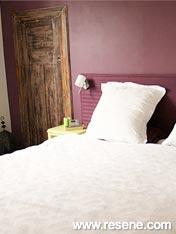 Resene Fandango on bedroom walls