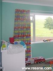 A boy's room is crisp in Resene Serenity