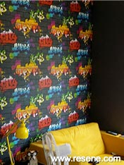 Co-ordinated wallpaper and paint