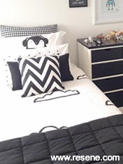 Black and white boy's room