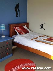 A cricket duvet cover and some cricket accessories and the room is complete