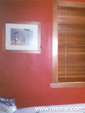 Resene Red Berry bedroom walls