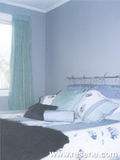 Bedroom wall colours matched to a duvet