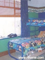 A teen's blue and silver room