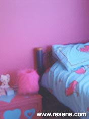 Childs bedroom with Resene Wild Willow and Resene Golden Sand uminium stars