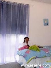 Child's bedroom in bright Resene Hopskotch