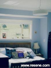 Bedroom of Resene Echo Blue