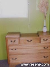 Bedroom of half Resene Citron