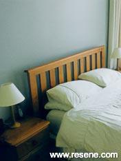 Bedroom in Resene Lemon Grass