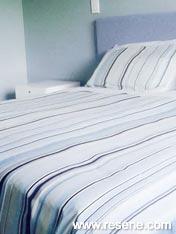 Bedroom painted in Resene Comfort Zone