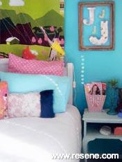 Child's bedroom Resene Fuel Yellow and Resene Zomp