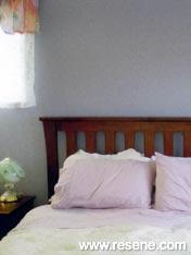 Bedroom painted in Resene Amethyst Smoke
