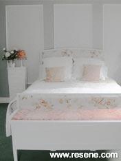 Bedroom painted in Resene Delta