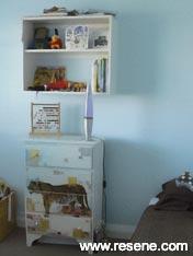 Child's bedroom Resene Fuel Yellow and Resene Cut Glass