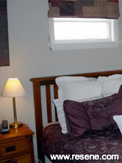 Bedroom painted in Resene Half Napa