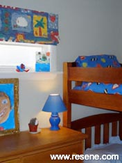 Child's bedroom Resene Fuel Yellow and Resene Aspiring