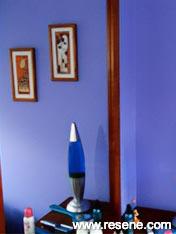 Child's bedroom Resene Fuel Yellow and Resene Bubblegum