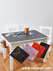 Activity table for young artists