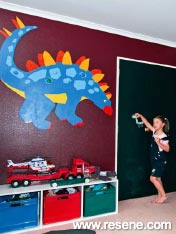 Dinosaurs and loads of exploring to do in the boys' new room
