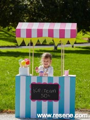 A simple to make little ice cream stand