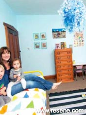 Her children can enjoy the serene and quirky space she's created for them