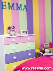 Creating a special place for her daughter with stripes
