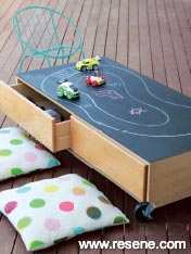 Roll the play from inside to outside with this ever-changing play table