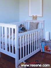 Baby blue room with Resene Periglacial Blue