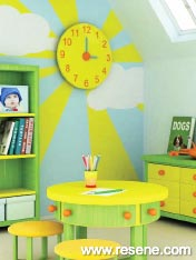 Vibrant colours will give your child his or her dream room