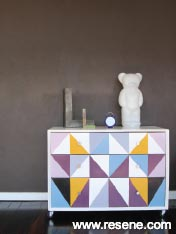 Paint drawers with a funky design