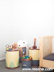 Cool storage barrels for kids toys