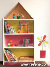 A bookcase that's as pretty as a dolls house