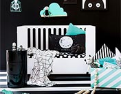 Monochrome is so hot right now for children's rooms