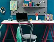 An attractive teenage study and workspace
