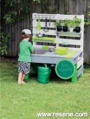 How to make an utdoor kitchen for kids