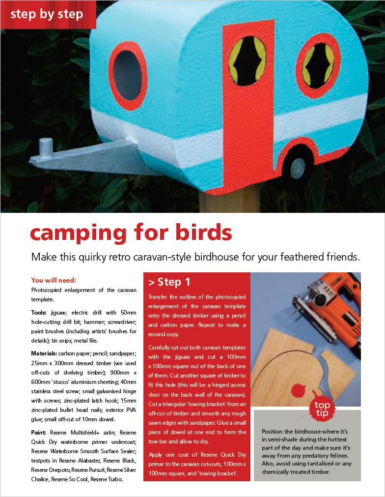 Make a retro caravan-style birdhouse