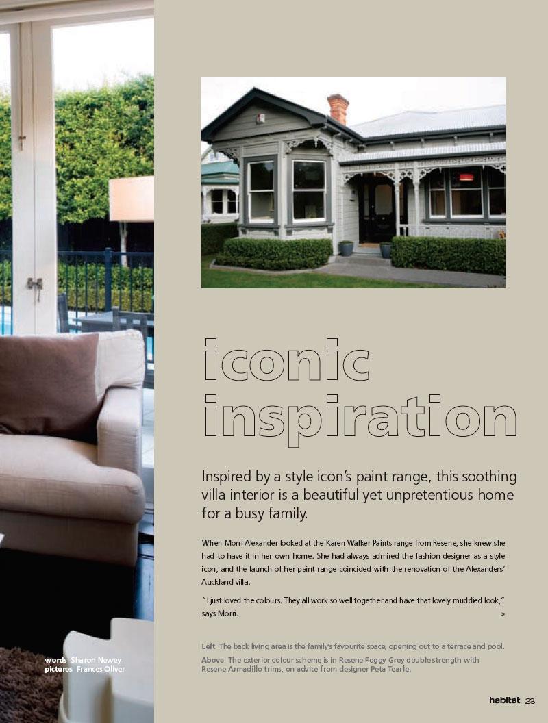 A villa colour scheme inspired by the new Karen Walker colour range