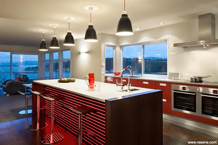 Like A Fine Wine Rich Red Kitchen Cabinets Habitat Issue 13
