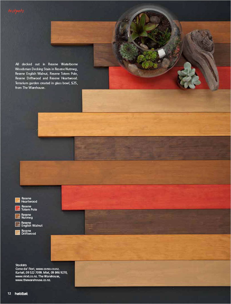 New Non Traditional Wood Stain Colours