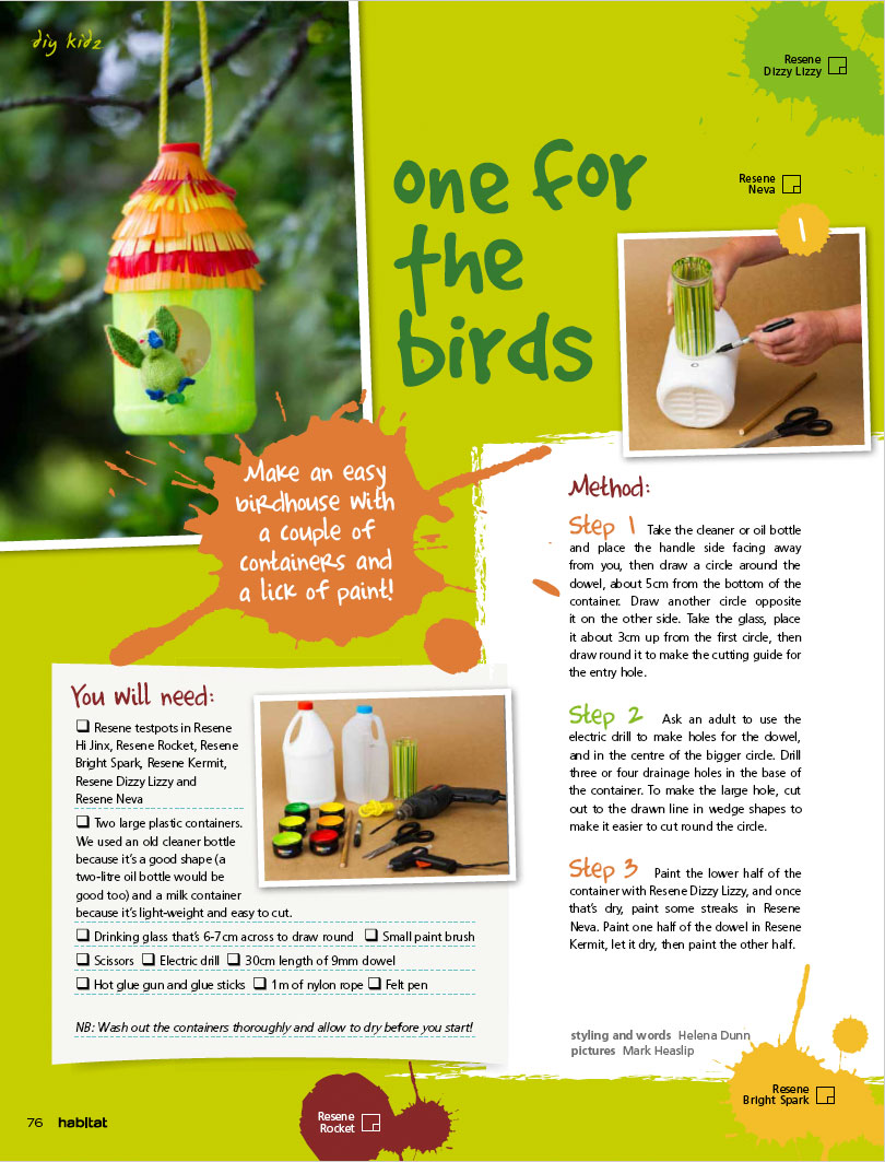 a birdhouse project for kids