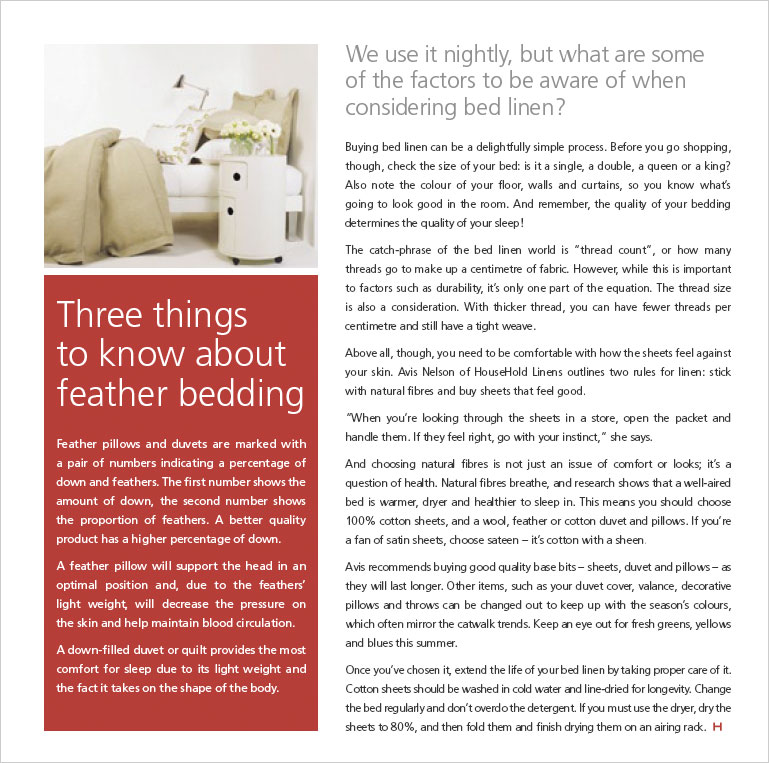 Between the sheets - Habitat Magazine published by Resene Paints