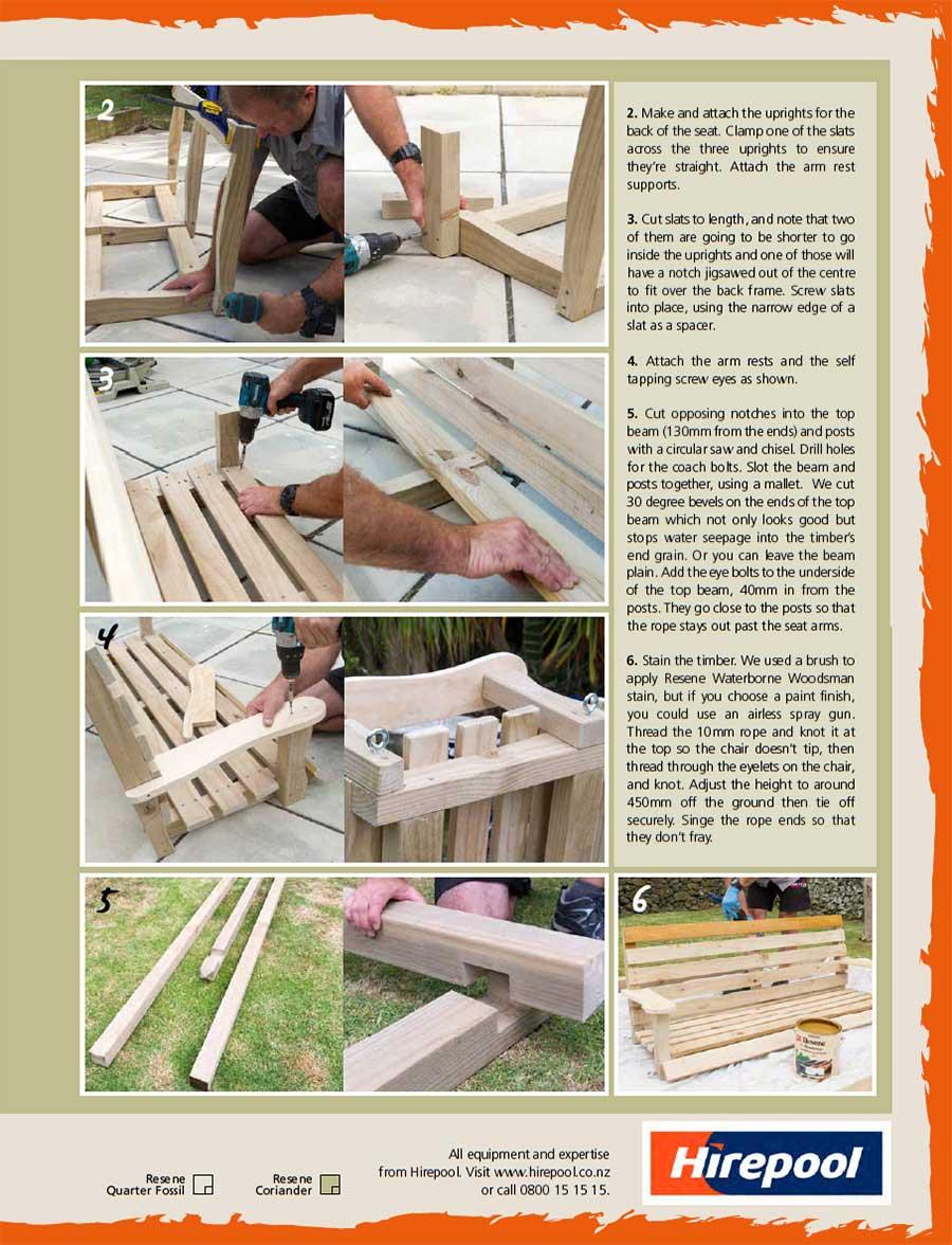 build a swing seat - habitat magazine 22